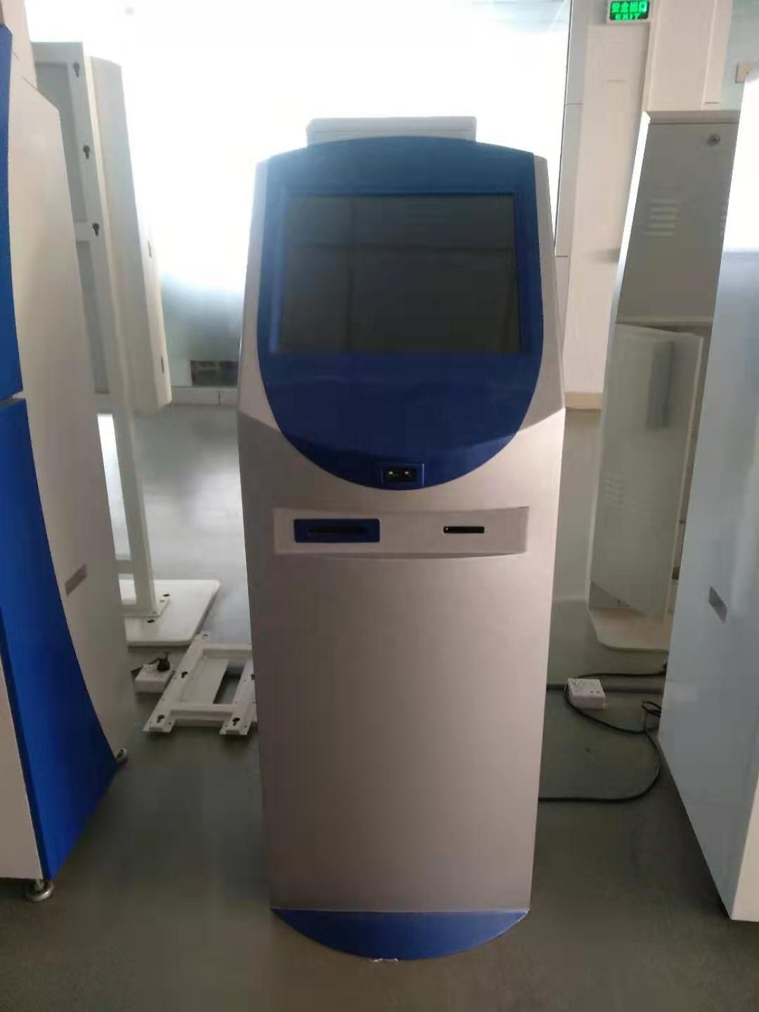 smart receipt printing kiosk with customisable touch screen size