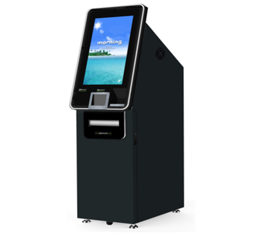 foreign currency exchange kiosk with 6 currency notes