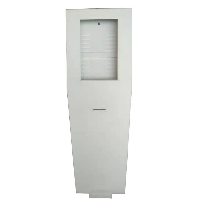 standing smart digital signage self service order kiosk cabinet with receipt printing