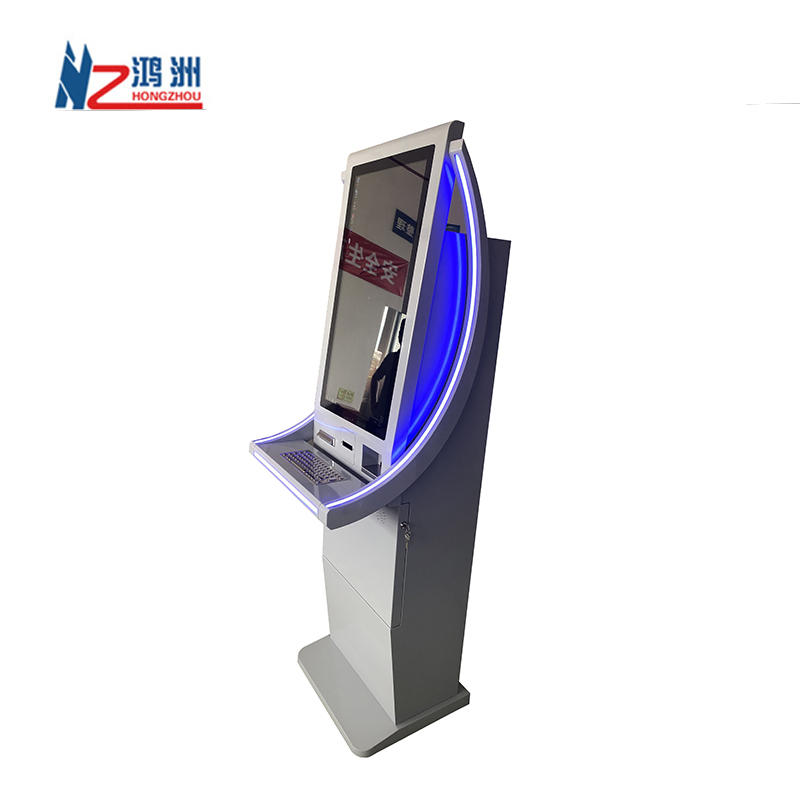 Lobby Floor Standing Telecom Mobile Phone Top Up Kiosk With Card Issuer Functions