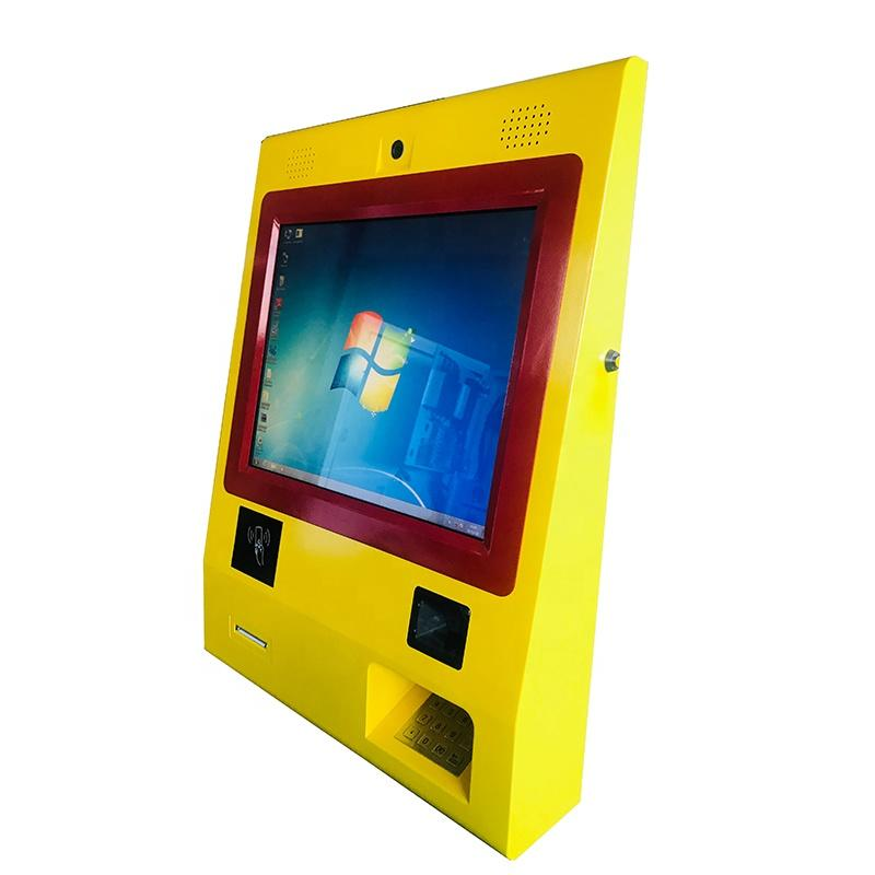 19 inch bill payment Wall mounted mini kiosk with thermal printer