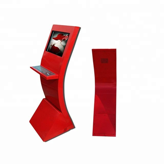 Free Standing Information Touch Screen LCD Book Returning Library Kiosk