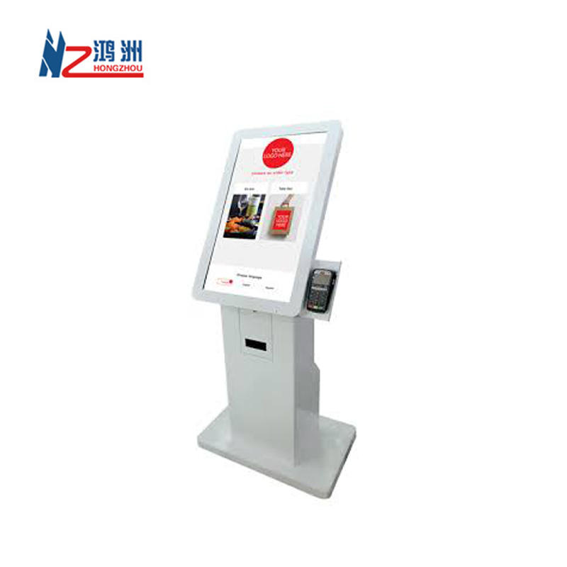19 inch barcode scanner ticket printer cash deposit kiosk