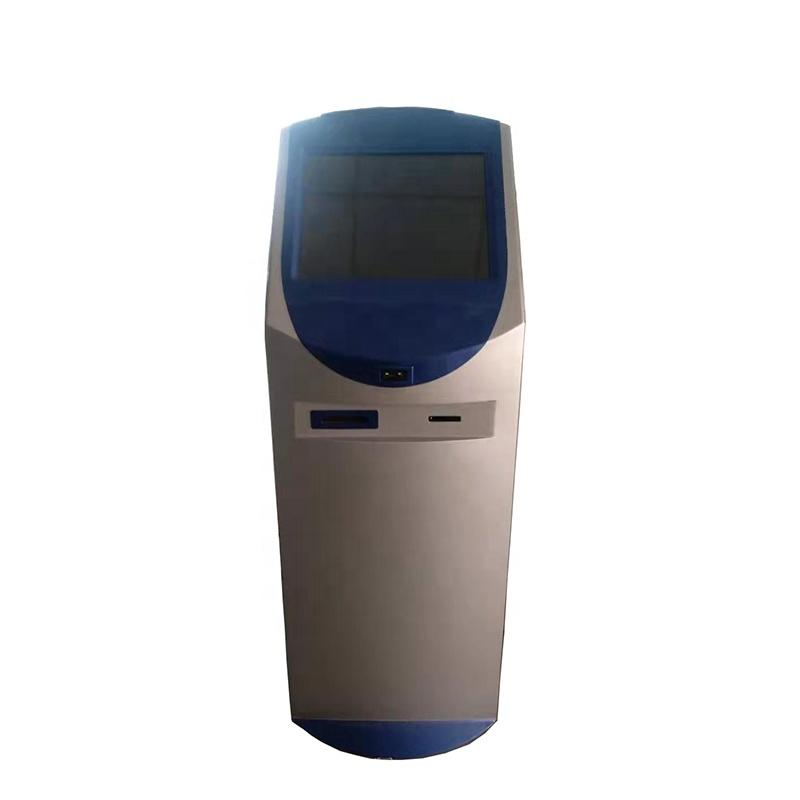 standing 58mm receipt printing kiosk with customisable touch screen size