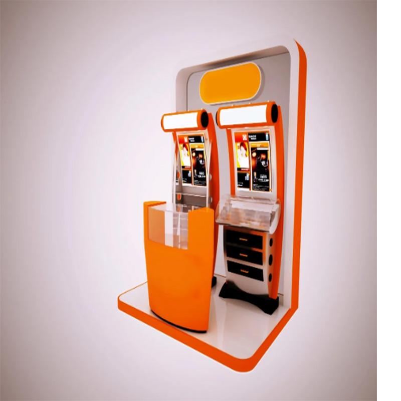 standing touchscree SIM dispensing kiosk