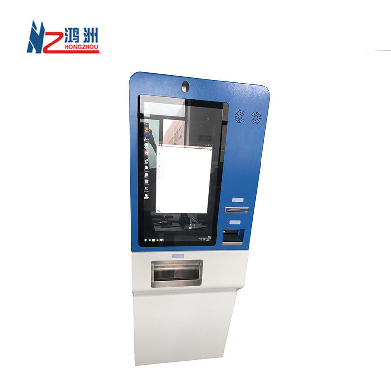 Touch Screen Self Check In Hotel Selfservice Payment Kiosk With Card Dispenser