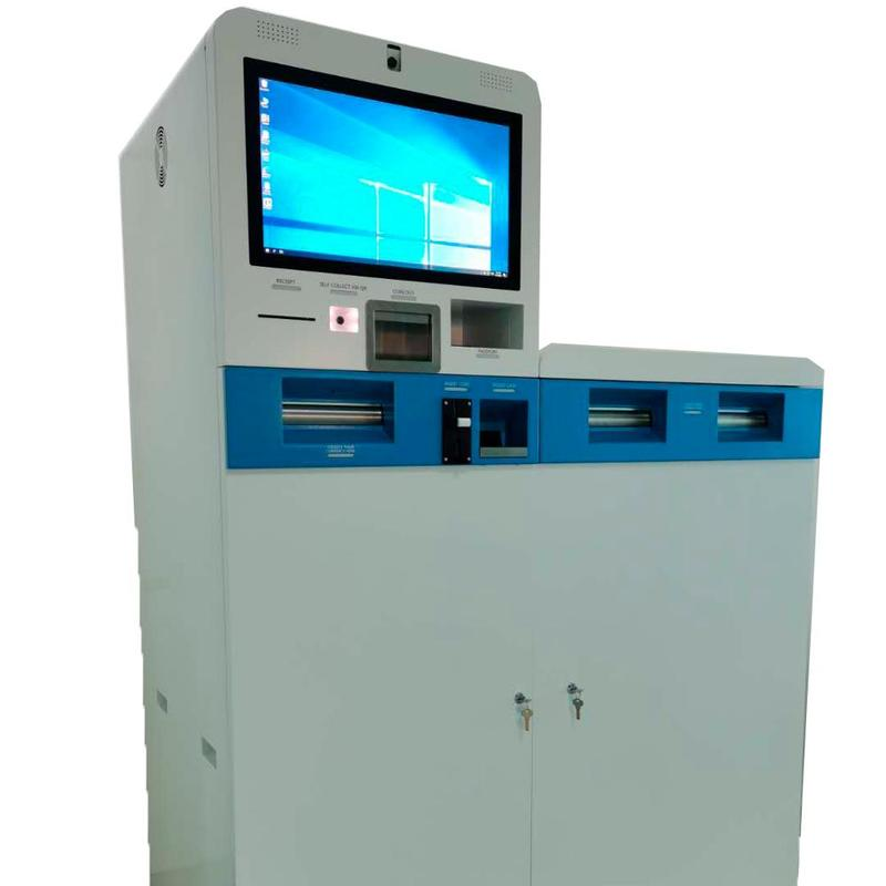 21.5Inch Foreign currency exchange machine with cash acceptor&dispenser kiosk
