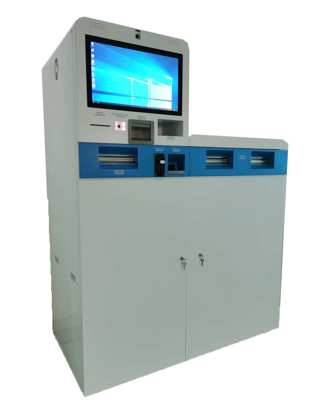 Self Service Financial Equipment Foreign Currency Exchange Machine With Touch Screen