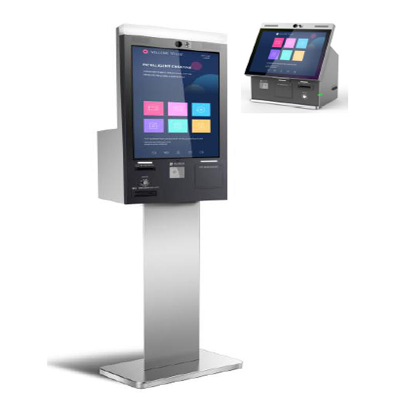 standing touchscreen SIM card dispensing kiosk for telecommunication store mobile phone store