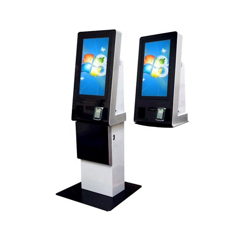 Shenzhen factory OEM ODM cash accept dispenser kiosk with card dispenser