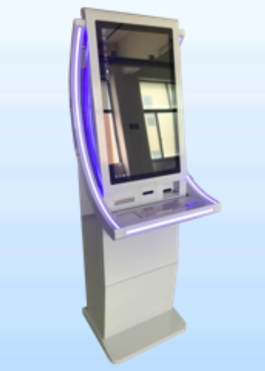 receipt printing kiosk with QR code scanner