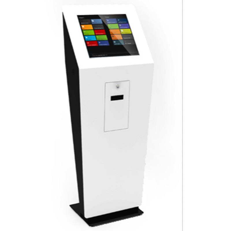 smart and standing self printing kiosk