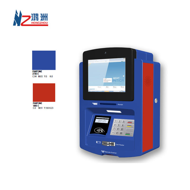 10.1 inch wall mounted kiosk for money acceptor used in parking lot