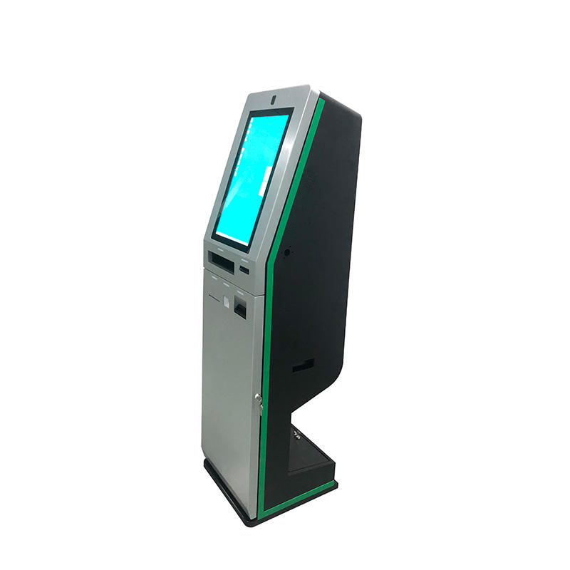 Touchscreen ATM machine self service check in kiosk for hotel