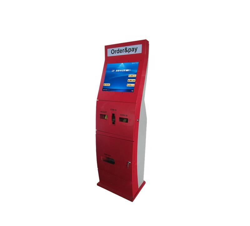Hotel Self Service Ordering Kiosk Service With Card Reader Holder