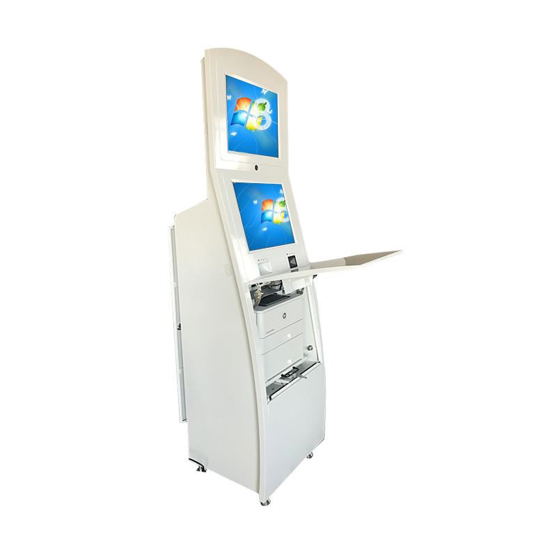 Dual Screen Self-service ATM Machine Deposit Withdraw Cash Acceptor
