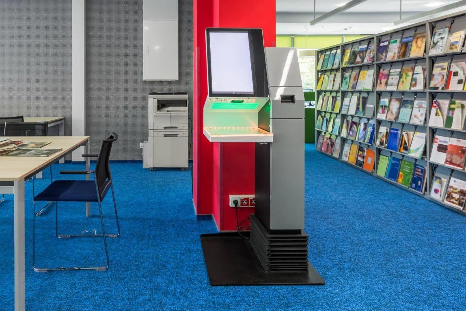 Android System Self Book Borrow and Return Kiosk for Library