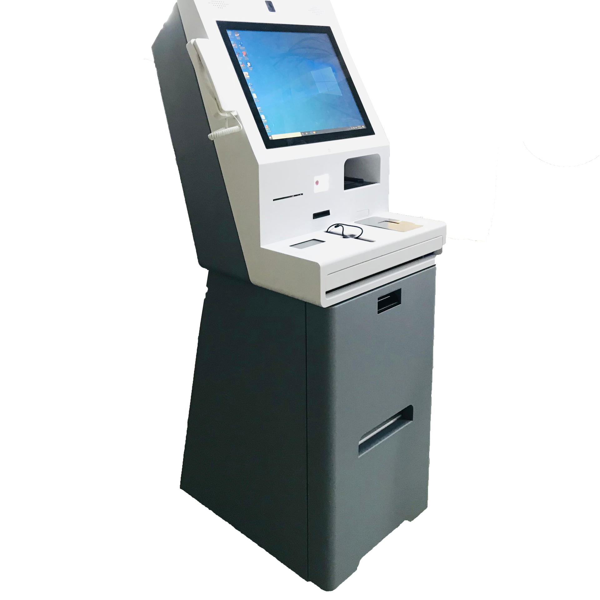Check in Kiosk OEM Vertical Dual Screen Payment Kiosk For Hotel
