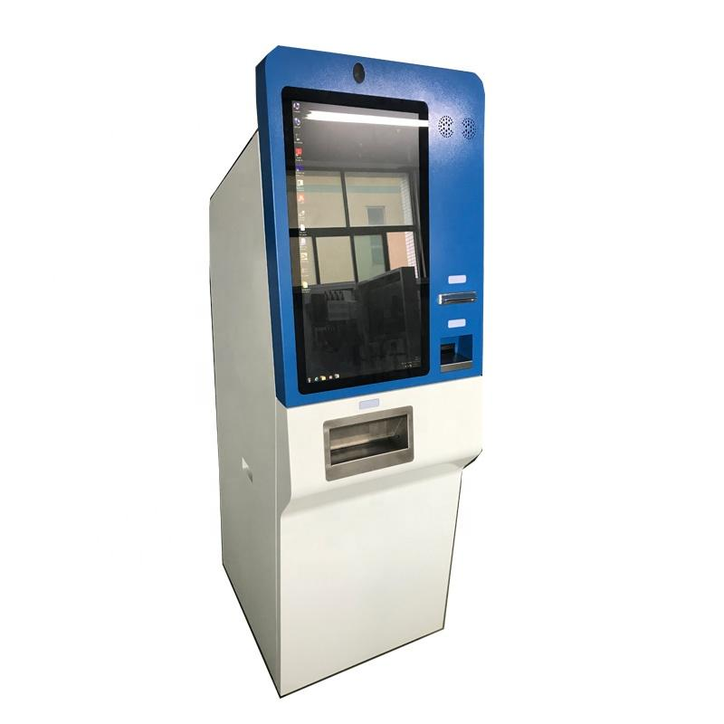 LED multimedia self service payment kiosk with WIFI and cash coin dispenser