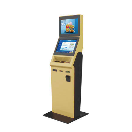 Dual screen 19 inch touch screenticket check kiosk with payment function in bus station