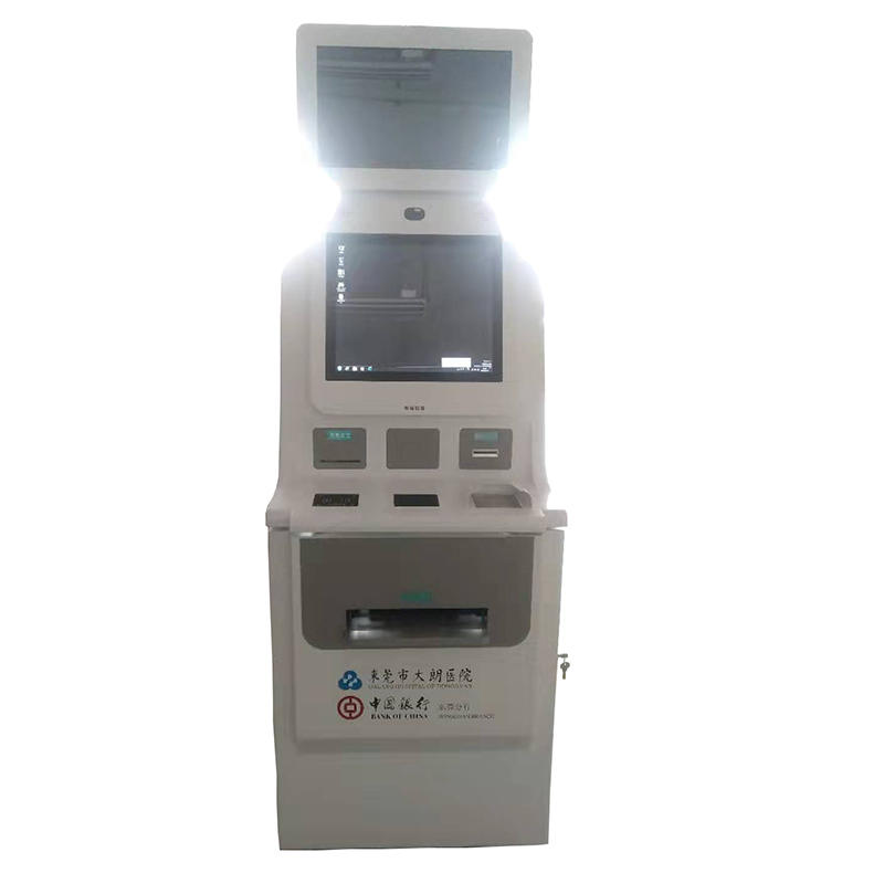 digital signage hospital clinic kiosk for patients supporting bank card sociel security card