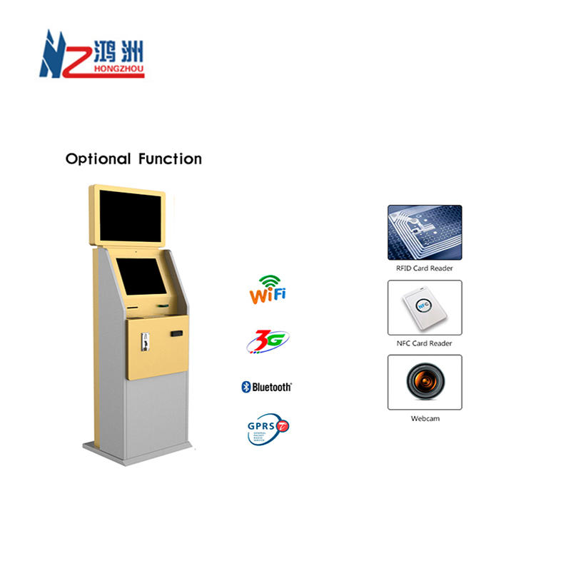 Dual Screen Touch Screen Cash Acceptor Kiosk for Hotel