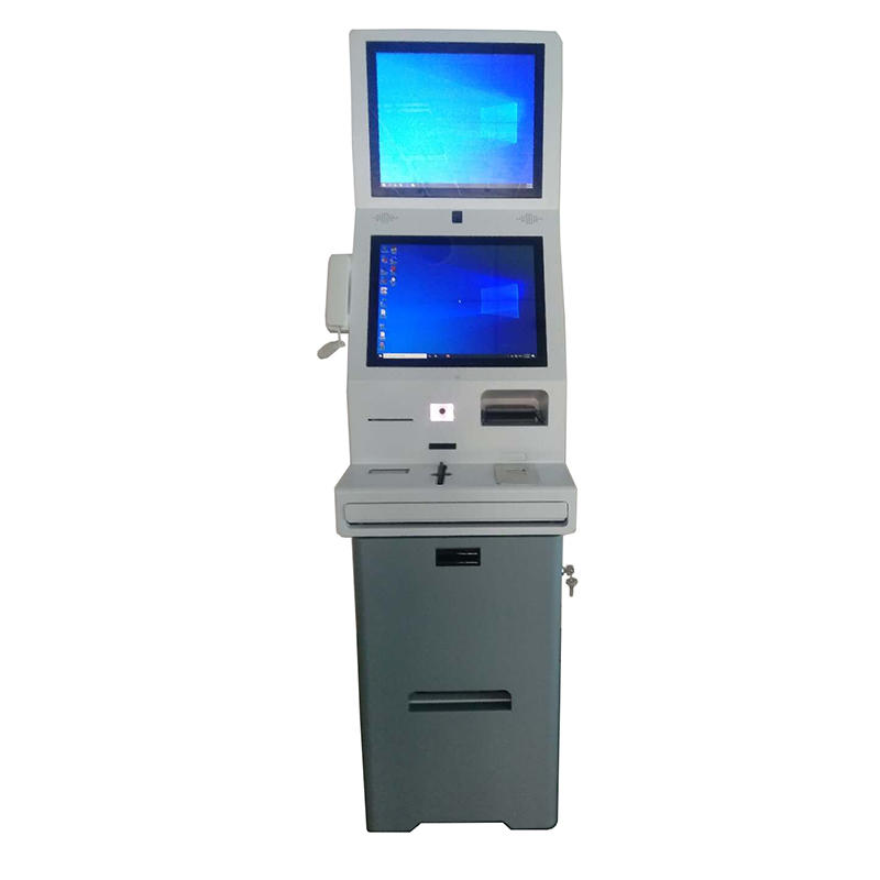 Double HD touch screen hotel digital signage kiosk