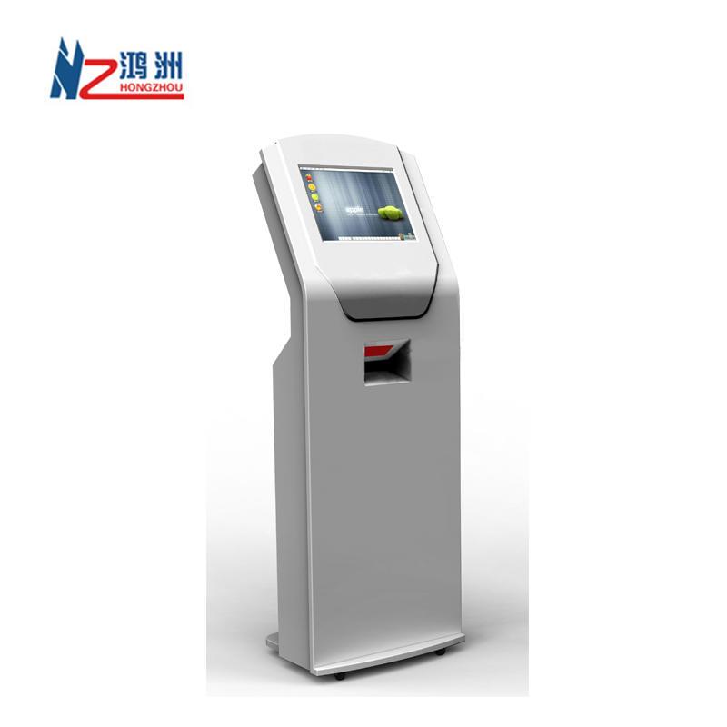 HD dual screen lobby bill payment kiosk machine for restaurant