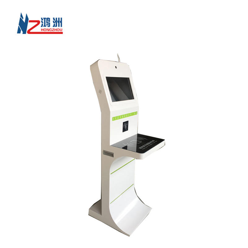High quality multi function book return kiosk with ID card readerfor selfbook borrow and return in library