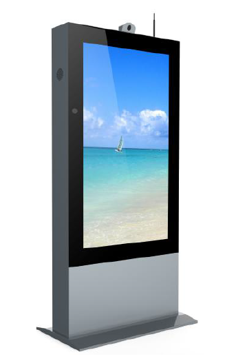 Outdoor digital signage standing advertisement kiosk with LCD display