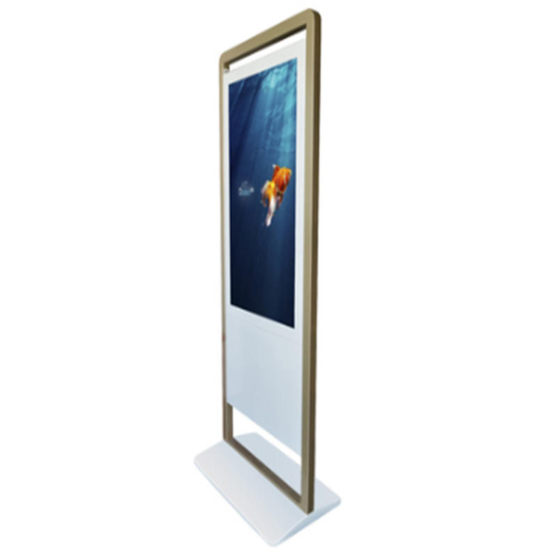 Outdoor vertical type advertisement digital signage kiosk with LCD display