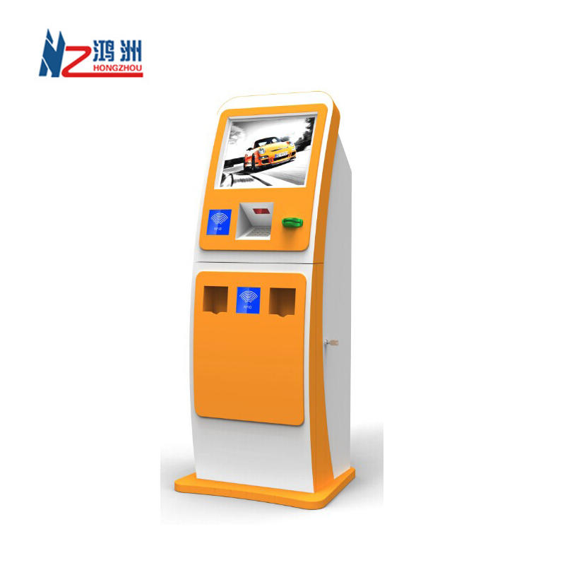 High quality free standing coin counter kiosk for mall