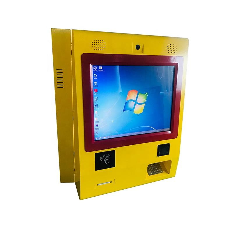 Customized wall mounted payment kiosk with cash deposit and withdraw
