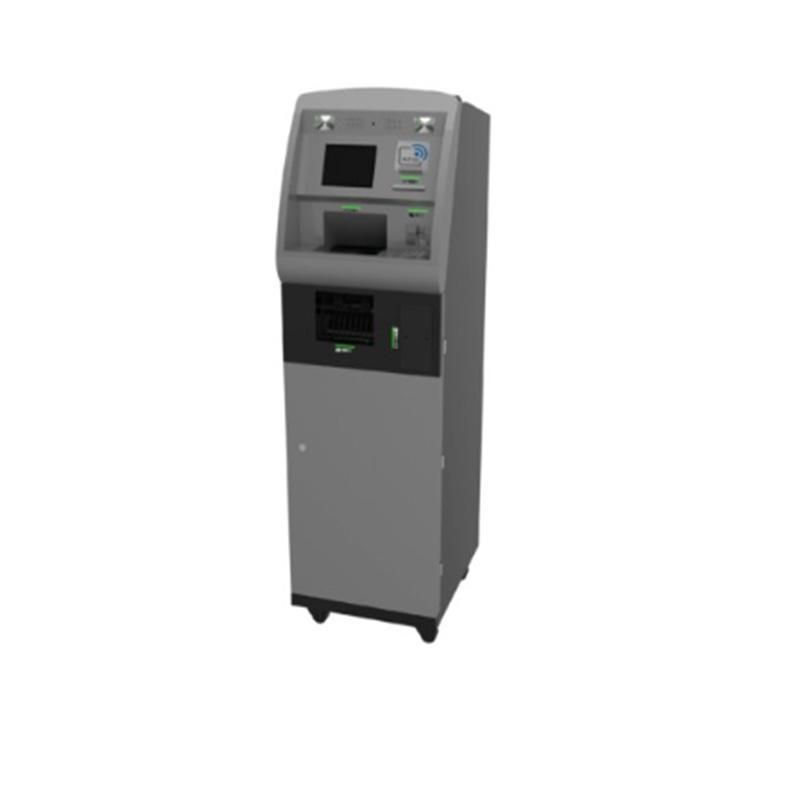 standing smart cash deposit kiosk with receipt printing