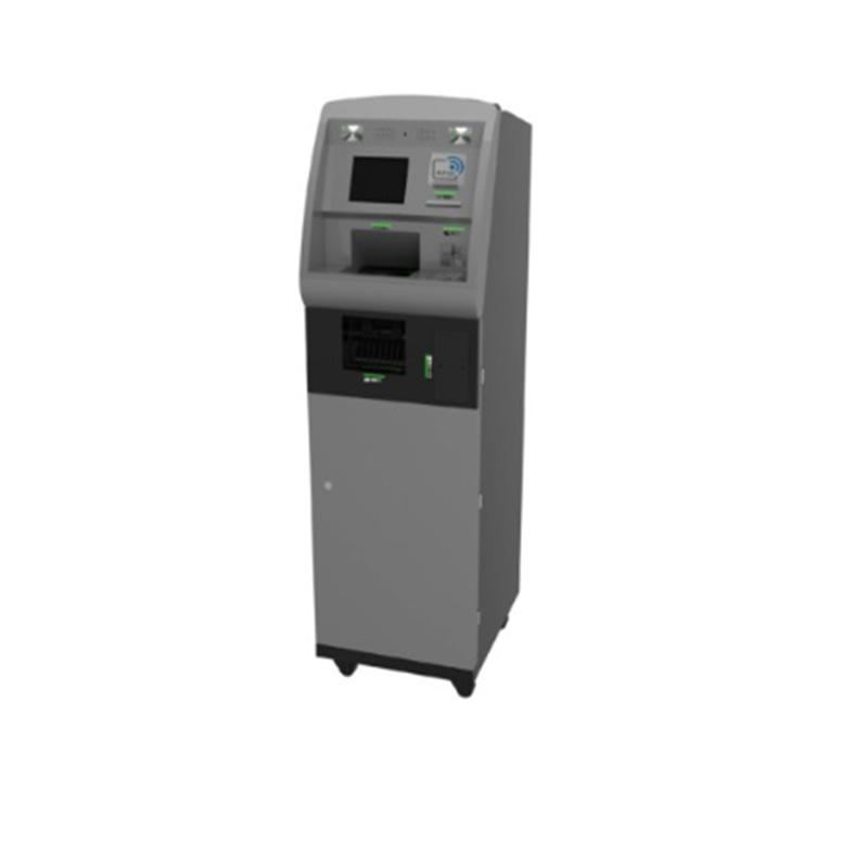 standing smart cash deposit kiosk with receipt printing