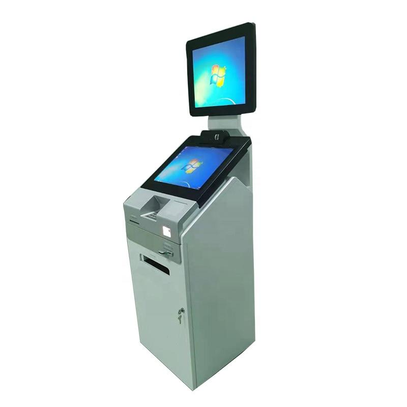 Dual screen self print record kiosk in hospital with payment function A4 laser printer