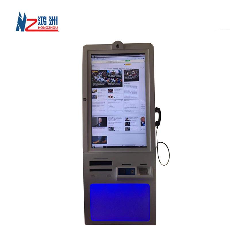 health kiosk with document scanner for hospital