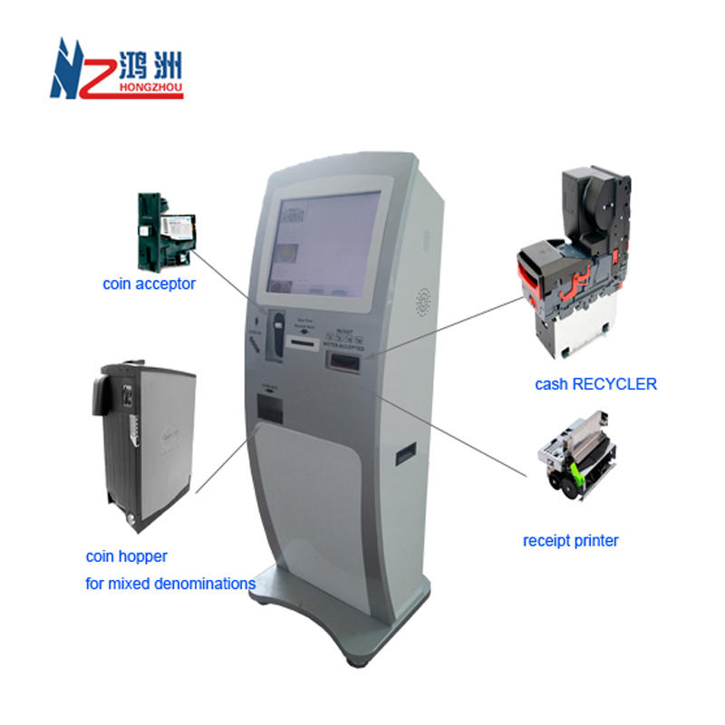 Indoor check in kiosk machine with self payment function
