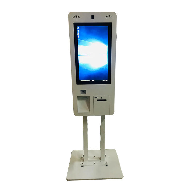 21.5 inch smart LED touchscreen self service order kiosk in restaurant fast food with Windows system