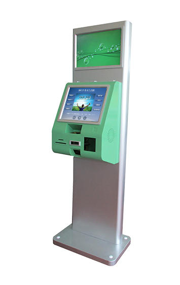 Stand PC touch screen kioskfor information inquiry with tablet printer