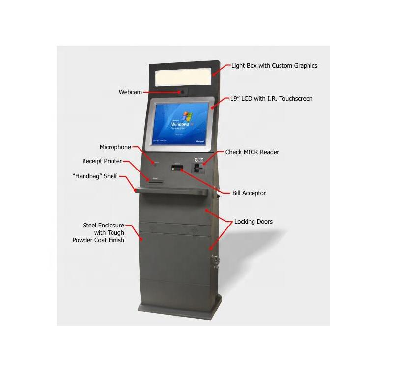 Self service kiosk in cinema cash and bill payment with Windows system