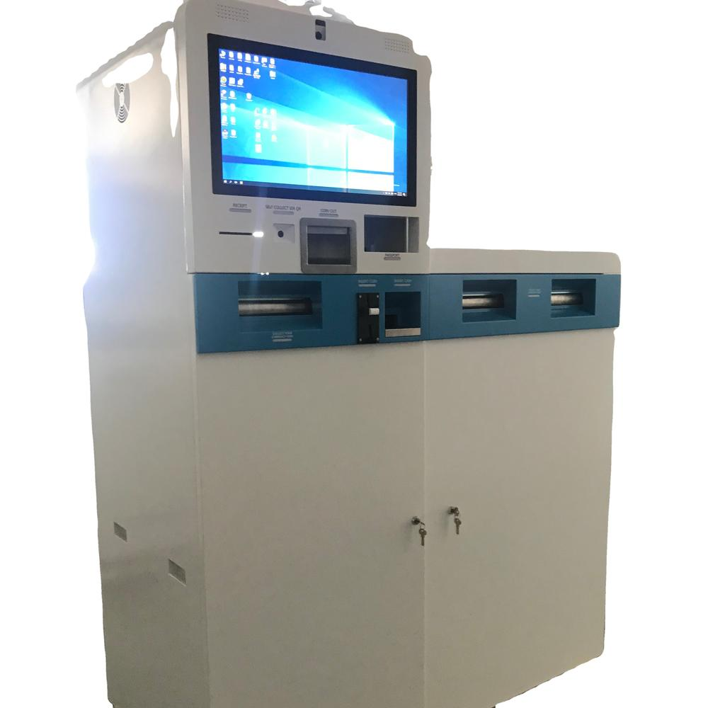 Customized Foreign currency exchange machine with cash recycler barcode scanner