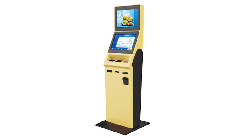 Floor standing Interactive Self Service Touch Screen Kiosk With Barcode Scanner