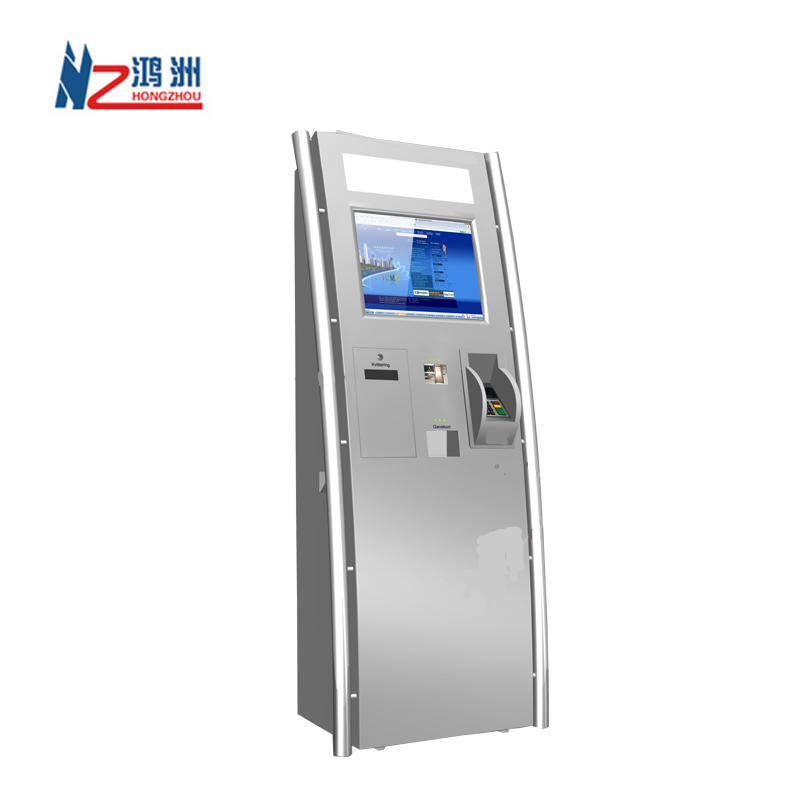 Outdoor cash payment kiosk to bills and coins in shopping mall
