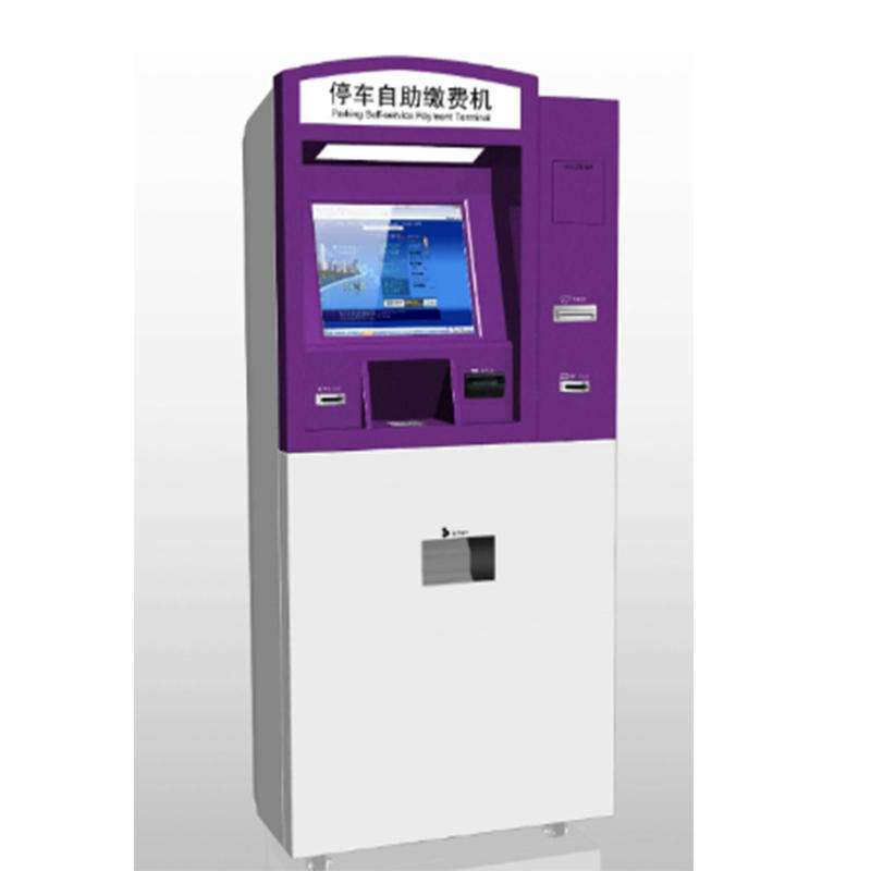 parking lot digital signage self pay kiosk with printing function