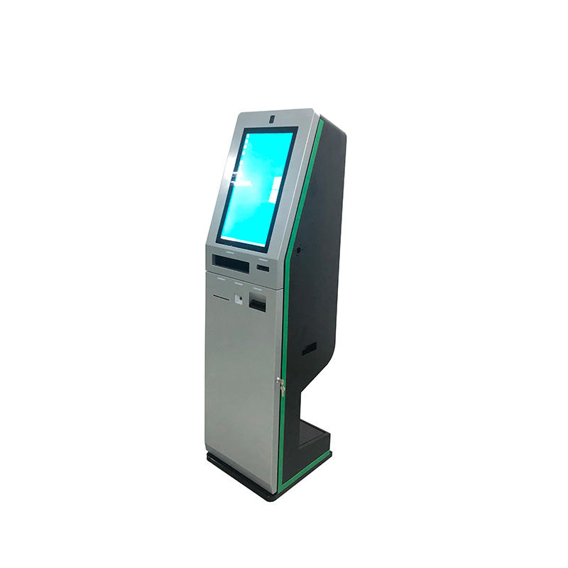 21.5 inch Hotel self service check in touchscreen Bill Payment Machine kiosk passport ID card scanner