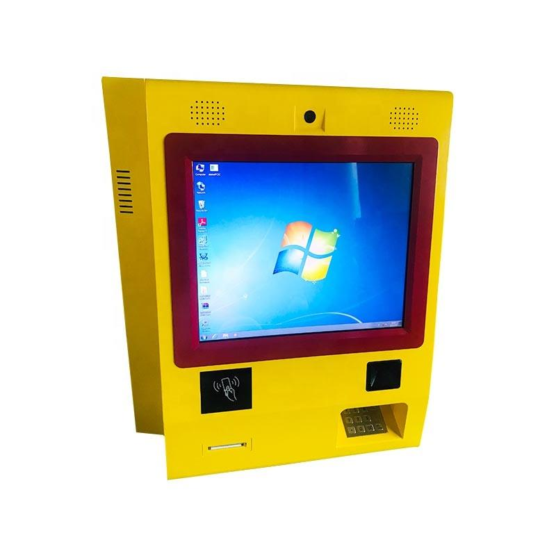 OEM 21 inch wall mounted kiosk with barcode and printer with capacitive touchscreen