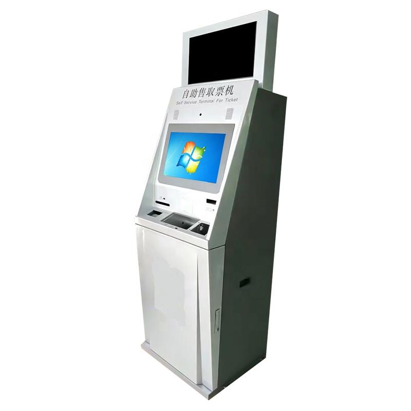 Cash payment kiosk bills and coins in shopping mall kiosk in house for vending