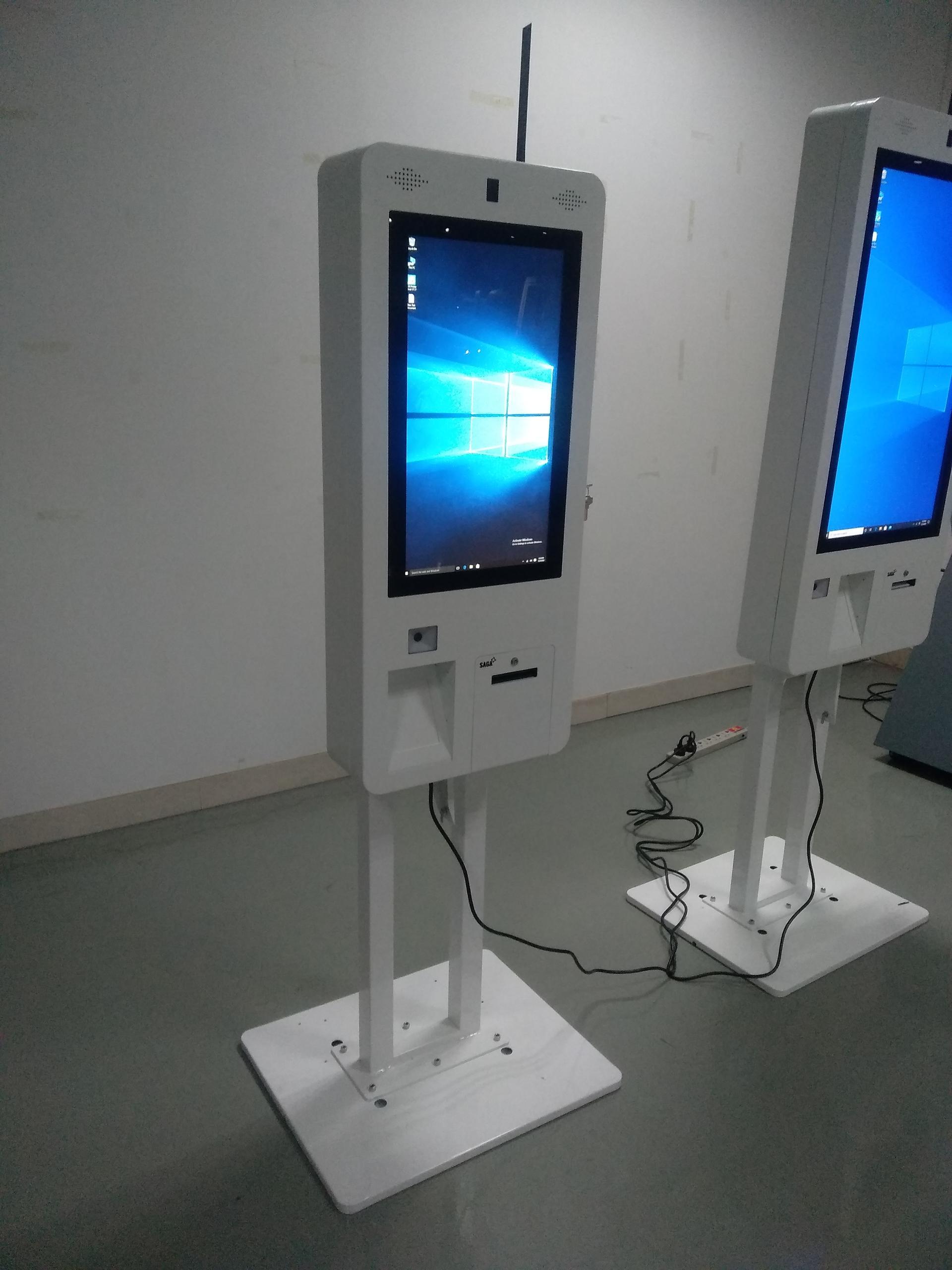 all-in-one standing custom-made touchscreen size digital signage restaurant kiosk