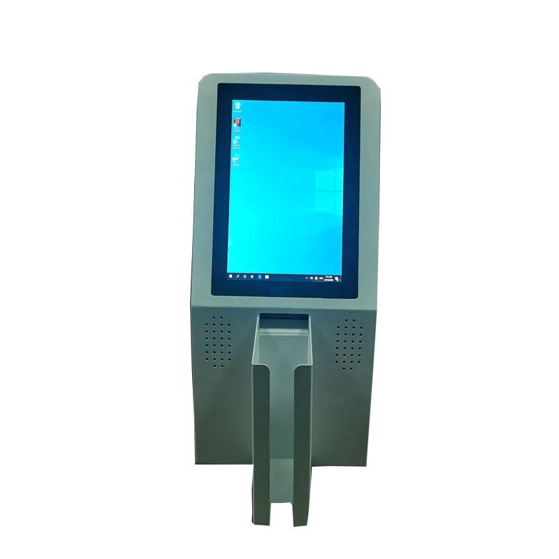 Automatic desktop card dispenser kiosk with speaker